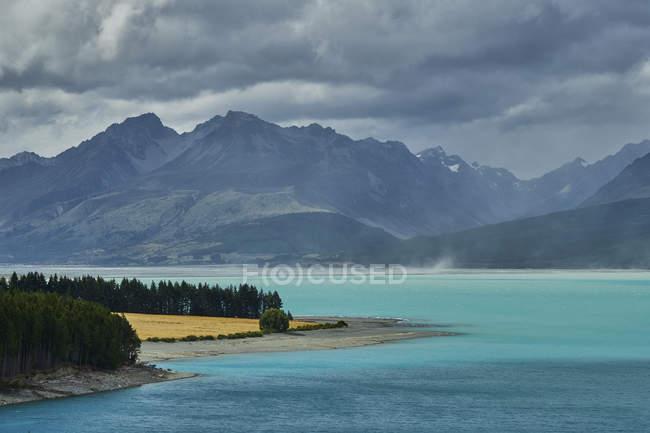 Нова Зеландія, Південний острів, озеро Пугайкі — стокове фото