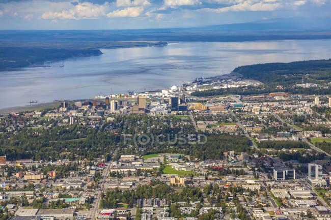 USA, Alaska, Ancoraggio, vista aerea — Foto stock
