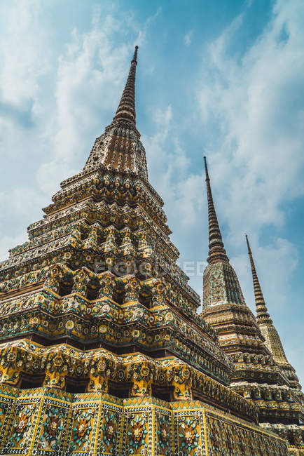 Thailand, Bangkok, pagodas of Wat Pho temple — Stock Photo