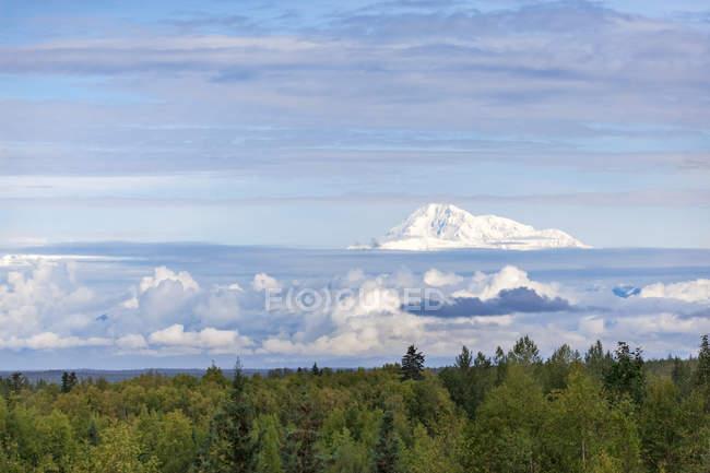 США, Аляска, Талкеетна, вид на вершину гори Деналі — стокове фото