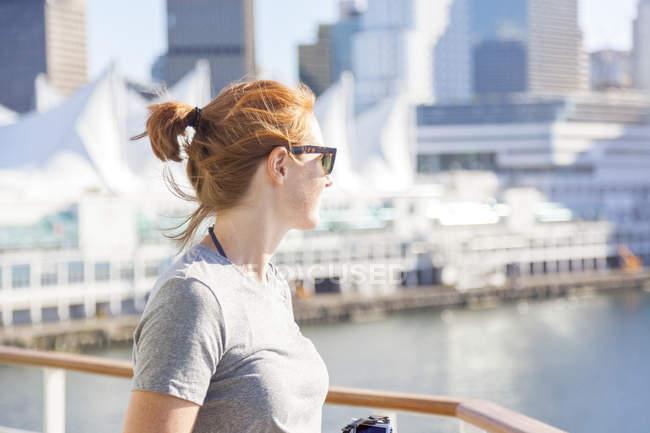 Canada, British Columbia, Vancouver, turista donna — Foto stock