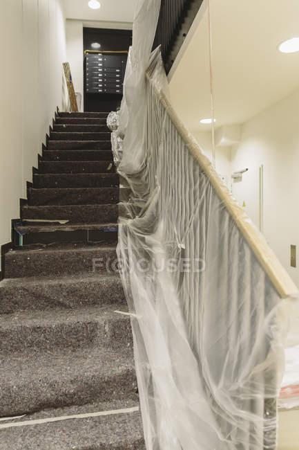 Внутренний вид Реконструкция лестницы — стоковое фото
