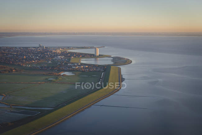 Germany, Buesum, North Sea Coast seen from airplane — Fotografia de Stock