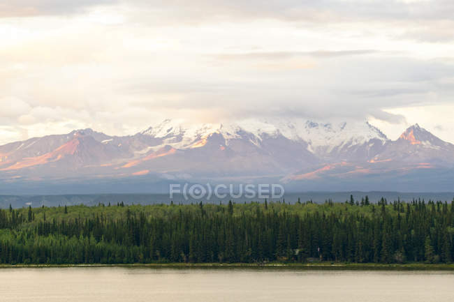 Usa, Alaska, Wrangel Mountains, Wrangell-St.-Elias-Nationalpark. Blick vom Willow Lake — Stockfoto