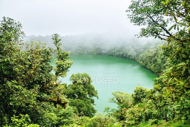 Costa Rica, Landscape with Cerro Chato crater lake — Fotografia de Stock