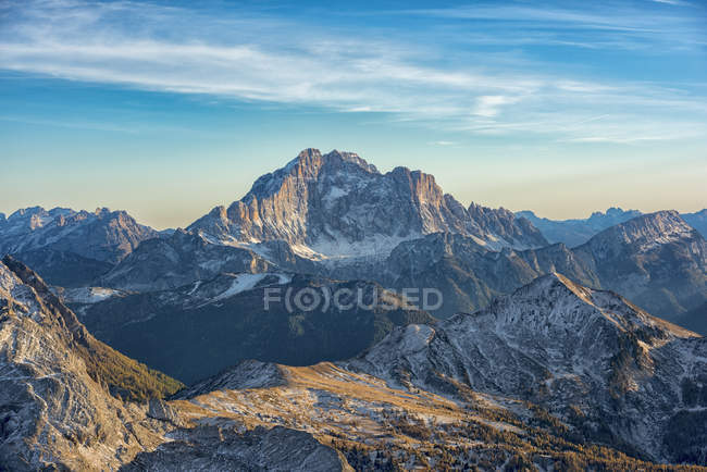 Italy, Veneto, Dolomites,aerila view of  mount Civetta — Stock Photo
