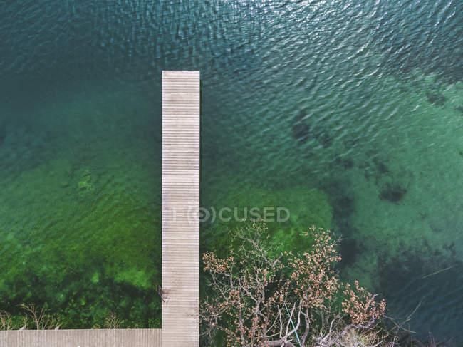 Germania, Baviera, Chiemsee, vista aerea del molo — Foto stock