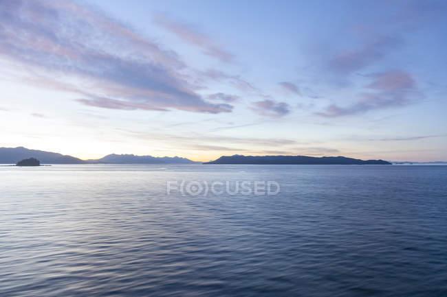 USA, alaska, in der Nähe von juneau, Golf von alaska am Abend — Stockfoto