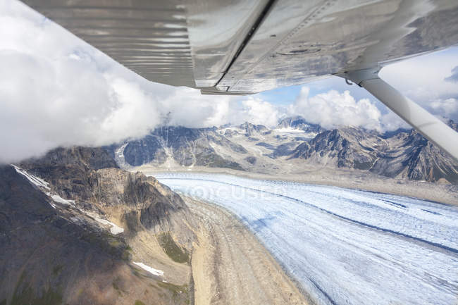 USA, Alaska, aerial veiw of  Ruth Glacier — Stock Photo