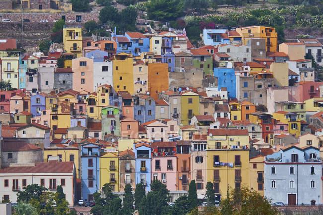Italy, Sardinia, Bosa, old town, colorful houses — Stock Photo