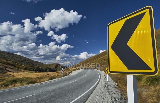 Нова Зеландія, Південний острів, Корона діапазон, Корона діапазон Road — стокове фото