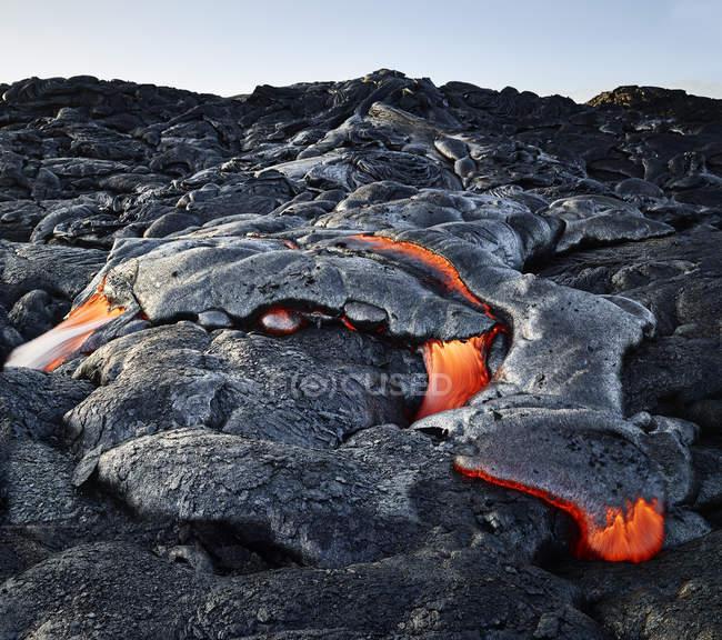 Hawaii, Big Island, Hawai'i Volcanoes National Park, lava — Fotografia de Stock