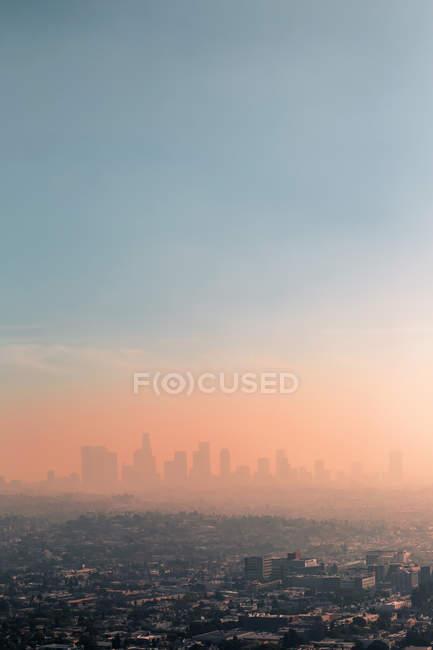 États-Unis, Californie, Los Angeles, smog sur Los Angeles — Photo de stock