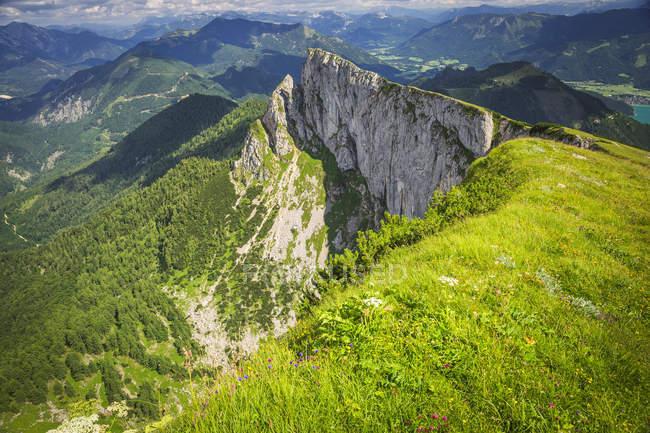 Austria, Salzburg State, Salzkammergut, View from Schafberg — стокове фото