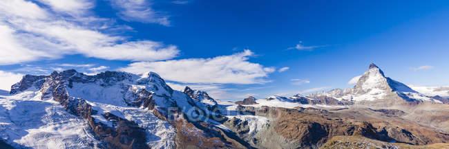 Швейцарія, Вале, Церматт, Брідшип, Маттерхорн, Панорама — стокове фото