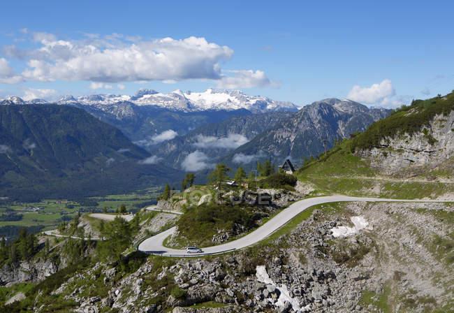 Austria, Styria, Salzkammergut, Ausseerland, View from Loser scenic road to Dachstein — Stock Photo
