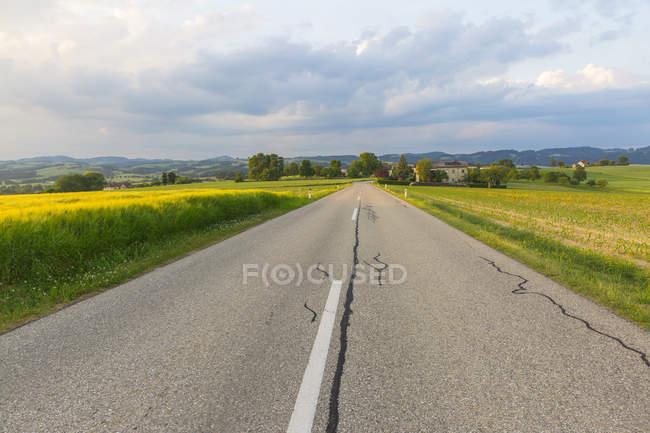 Австрія, Верхня Австрія, Muehlvierlel, порожня дорога країни — стокове фото