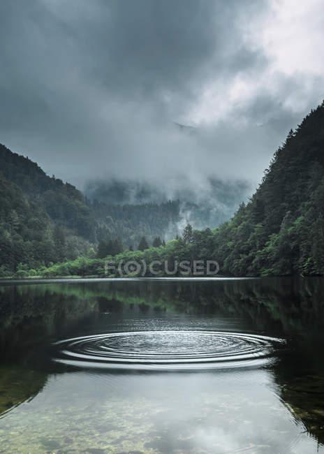 Austria, Salzburg State, Salzkammergut, St. Gilgen, Krotensee Lake in fog — Photo de stock