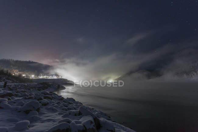 Russia, Amur Oblast, Bureya River in winter — Stock Photo