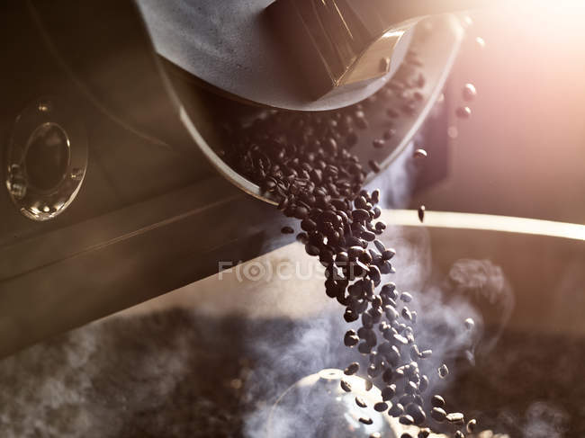 Coffee beans after roasting — Stock Photo