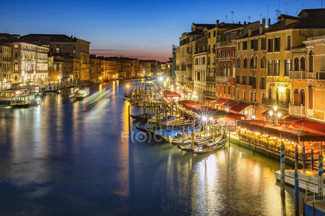 Italy, Veneto, Venice, Canal Grande in the evening — Stock Photo