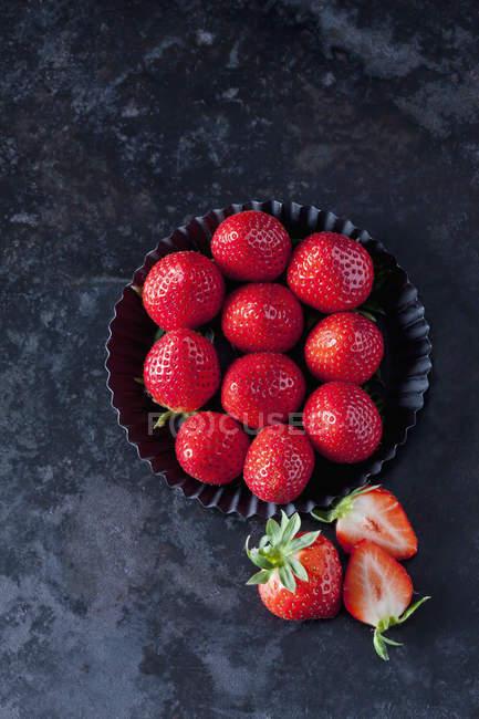 Close-up de morangos maduros — Fotografia de Stock