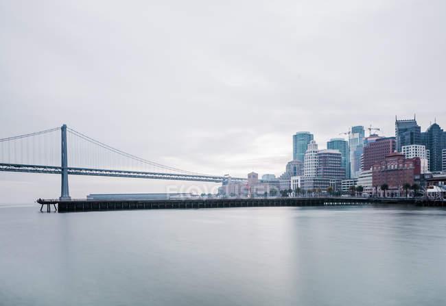 EUA, Califórnia, São Francisco, Oakland Bay Bridge — Fotografia de Stock