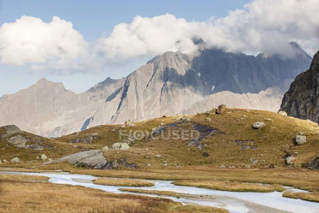 Austria, Tyrol, Stubai Alps, Stubaital, Hohes Moos, Habicht mountain — Fotografia de Stock