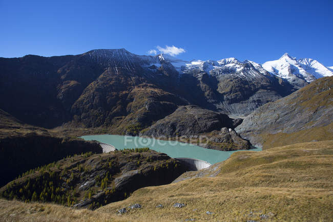 Austria, Carinthia, Margaritze reservoire, Grossglockner, Hohe Tauern National Park — Stock Photo