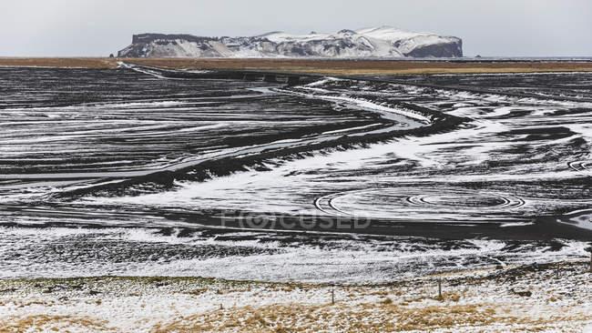 Iceland, Vik, Lava fields under snow — Stock Photo