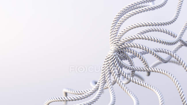 Close up of Knot of steel ropes — Stock Photo
