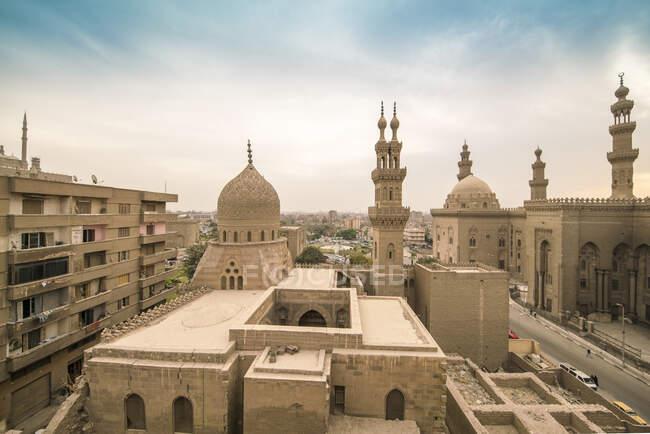 Egypt, Cairo, Al Mahmoudeya Mosque, Al Rifai Mosque, Sultan Hassan Mosque, The Citadel — Stock Photo