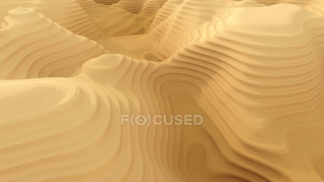 Modèle abstrait de canyon, rendu 3d — Photo de stock