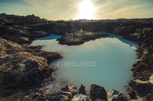 Iceland, artificial lake near geothermal area Blue Lagoon — стокове фото
