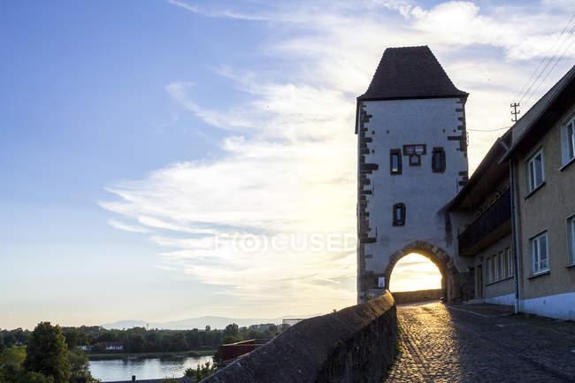 Deutschland, Baden-Württemberg, Breisach am Rhein, Hagenbachturm — Stockfoto