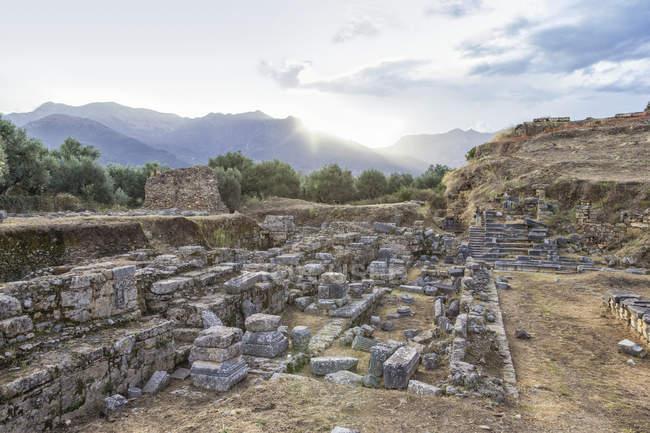 Греція, Пелопоннес, Ламонія, Спарта, амфітеатр — стокове фото