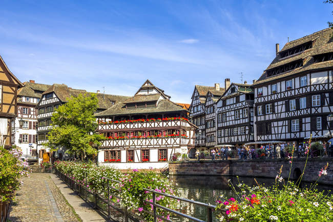 France, Alsace, Strasbourg, Old town, Petite France — Foto stock