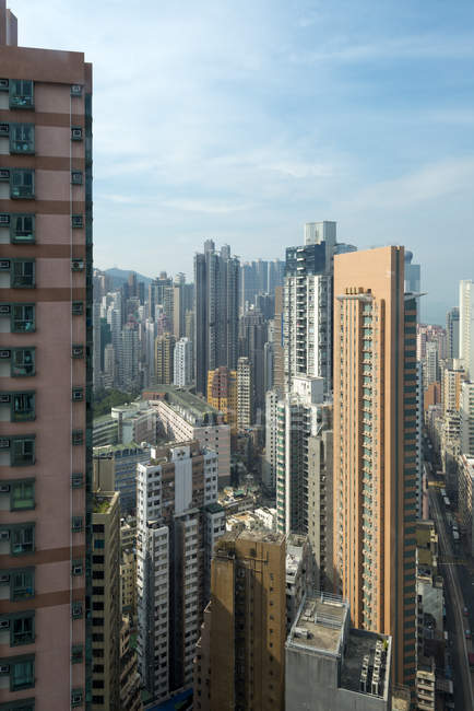 Китай, Гонконг, Sheung Ванг, височині будівлі — стокове фото
