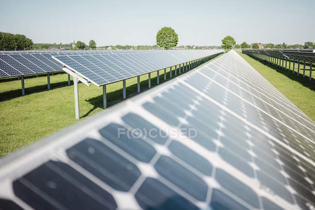 Germany, Kevelaer, solar plant at daytime — Stock Photo