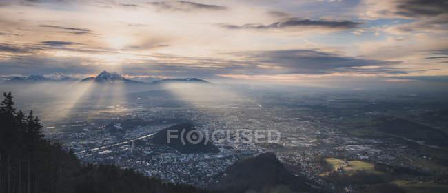 Austria, Salzburg, cityscape as seen from Gaisberg — стокове фото