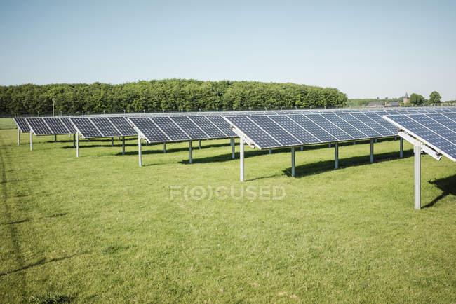 Germany, Kevelaer, solar plant at daytime — Stock Photo
