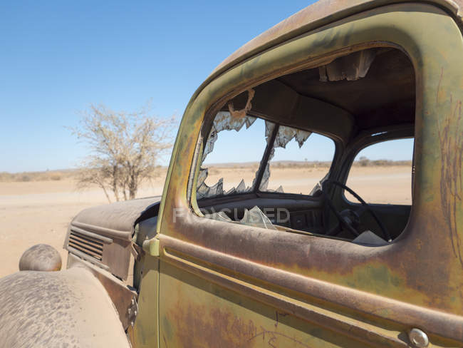 Africa, Namibia, broken old car — Stock Photo