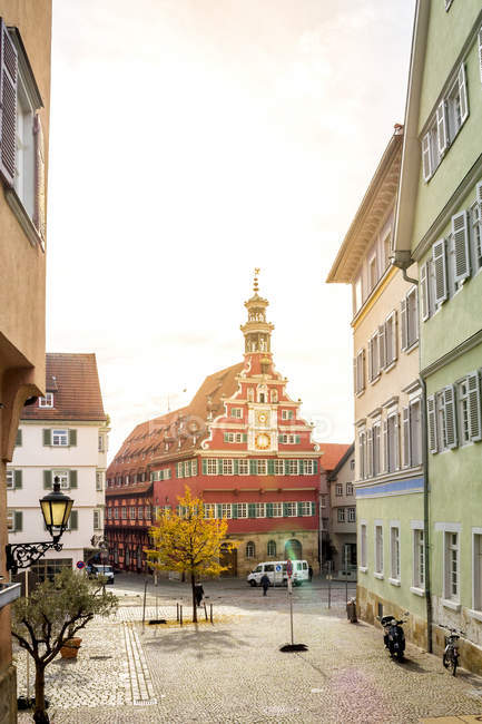 Germany, Baden-Wuerttemberg, Esslingen, Old town, old town hall — Stock Photo