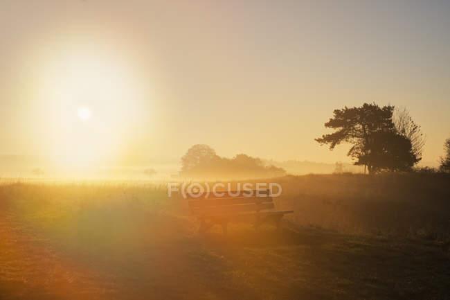 Germania, Baviera, Bassa Baviera, Valle dell'Altmuehl, alba vicino a Riedenburg — Foto stock
