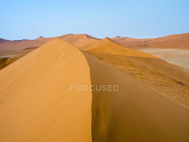 Afrique, Namibie, Désert namibien, Parc national du Naukluft, Sossusvlei, Dune 45 — Photo de stock