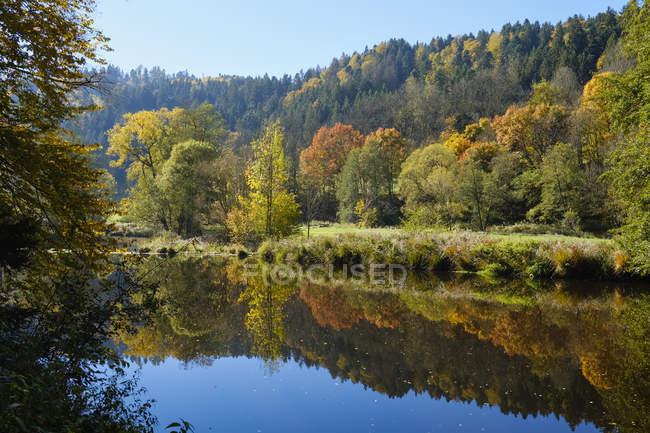 Allemagne, Bavière, Basse-Bavière, Forêt bavaroise, Réserve naturelle Obere Ilz, Rivière Ilz en automne — Photo de stock