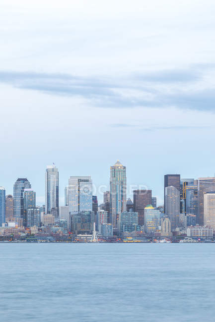 USA, Washington State, Seattle, Skyline in the evening — Stock Photo