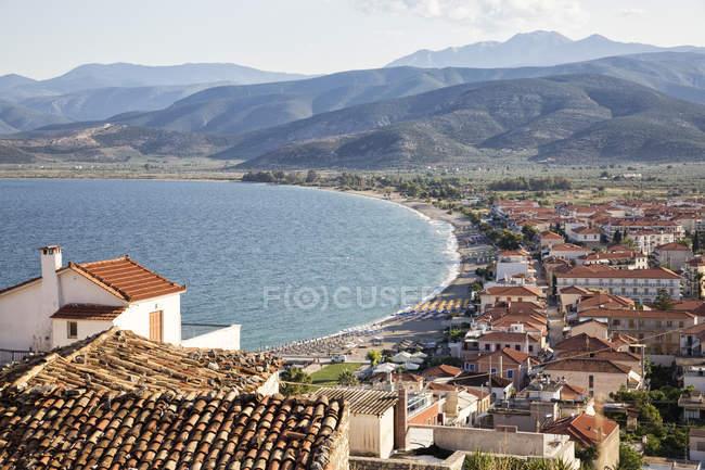 Greece, Peloponnese, Arcadia, aerial view of  Paralia Astros — стокове фото
