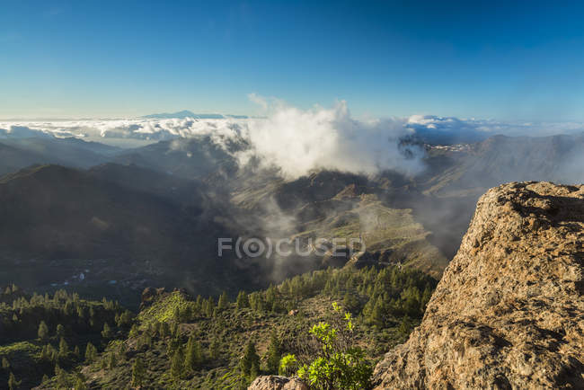 Spain, Canary Islands, Gran Canaria, view from Roque Nublo — Stockfoto