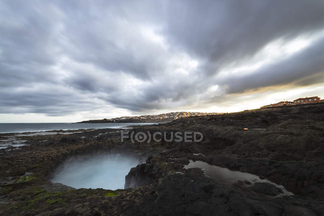 Spanien, Kanarische Inseln, Gran Canaria, La Garita, El Bufadero geologische Formation — Stockfoto